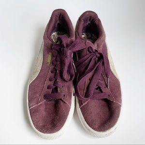 Puma plum sneakers sz 9
